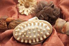 Massage Brush With Sponge Stock Image
