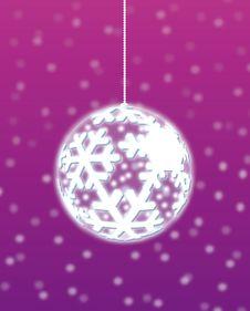 Christmas Snowflake Decoration Stock Images