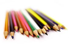 Free Colored Pencils On White Background Stock Photos - 16742243
