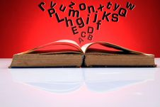 Flying Alphabets Stock Images