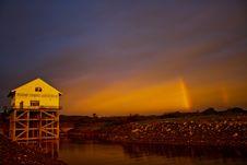 Free Rainbow And Building Stock Photo - 16742640