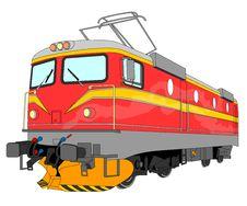 Free Electric Locomotive Illustration Stock Photos - 16743373