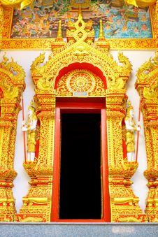 Free Thai Style Temple Door Stock Photos - 16743583