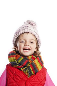 Free Little Girl Wearing Winter Clothes Royalty Free Stock Photos - 16743988