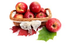 Free Ripe, Juicy Apples In The Basket. Royalty Free Stock Photos - 16744058