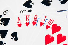Free Royal Flush Of Hearts Royalty Free Stock Photography - 16744387