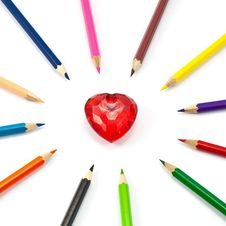 Free Colorful Heart Stock Images - 16744854