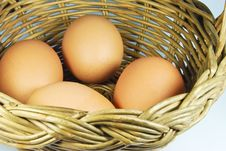 Free Fresh Eggs In Basket Royalty Free Stock Photos - 16745008
