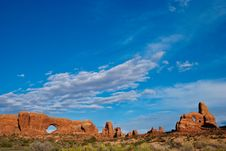 Free Clouds Over Arches National Park Stock Photos - 16745693