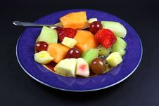 Free Plate Of Fruit And Spoon. Royalty Free Stock Photo - 16745695