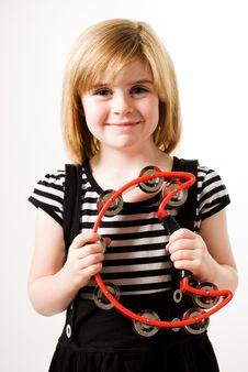 Free Playing Tambourine Stock Photography - 16745722