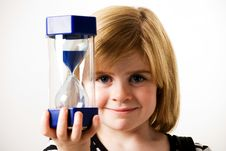 Free Looking At Hourglass Royalty Free Stock Images - 16745779