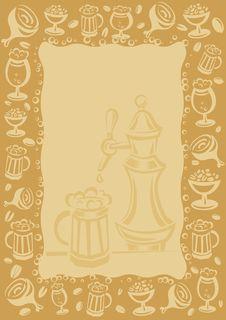 Free Beer Menu Frame Vector Royalty Free Stock Images - 16745909