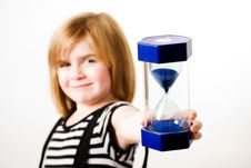 Free Girl With Hourglass Royalty Free Stock Images - 16746289