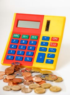 Free Calculator And Money Stock Image - 16746401
