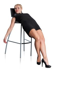 Free Attractive Woman On Chair. Stock Photo - 16746690
