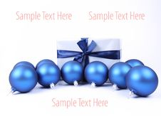 Free Christmas Balls And Gift Background Royalty Free Stock Photography - 16747147