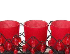 Free Red Candle Holder Stock Image - 16747161