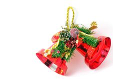 Free Red Christmas Bells Isolated Stock Image - 16747391