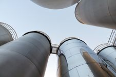 Free Tank Farm With Pipeline 7 Royalty Free Stock Image - 16747616