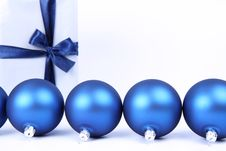 Free Christmas Balls And Gift Background Royalty Free Stock Image - 16747626