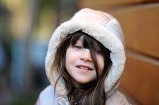 Free Adorable Small Girl With Long Dark Hair Stock Image - 16748321