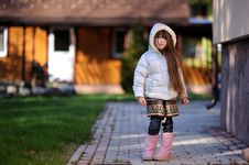 Free Adorable Small Girl With Long Dark Hair Royalty Free Stock Photography - 16748327