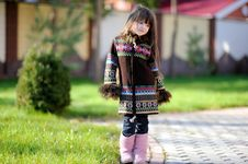 Free Adorable Small Girl With Long Dark Hair Royalty Free Stock Photo - 16748335