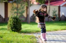 Free Adorable Small Girl With Long Dark Hair Royalty Free Stock Images - 16748339