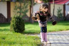 Free Adorable Small Girl With Long Dark Hair Royalty Free Stock Photography - 16748347