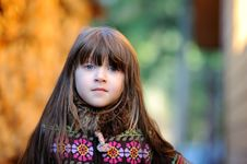 Free Adorable Small Girl With Long Dark Hair Royalty Free Stock Photos - 16748358
