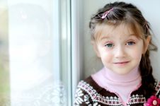 Free Beauty Small Girl With Long Dark Braid Royalty Free Stock Image - 16748396