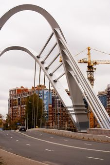 Free Modern Bridge Of St. Petersburg. Royalty Free Stock Photos - 16749198