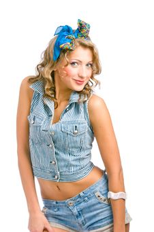 Free Playful Pinup Girl Royalty Free Stock Image - 16749266