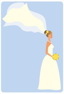 Free Bride With Flowers Royalty Free Stock Images - 16749419