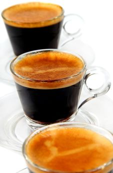 Free Espresso In Transparent Cups Stock Image - 16749771