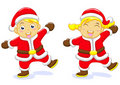 Free Santa Boy Santa Girl Stock Images - 16753994