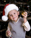 Free Adorable Little Boy In A Santa Hat Royalty Free Stock Photo - 16754105
