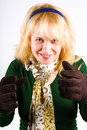 Free Blonde With Brown Warm Gloves Royalty Free Stock Photography - 16757547