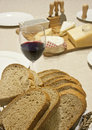 Free Bread Wine And Cheese Stock Images - 16759644