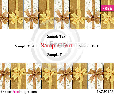 Free Gift Box With Colored Ribbons Stock Photos - 16759123