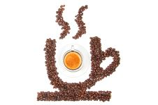 Free Cup Of Coffee From Coffee Beans Stock Photo - 16750010