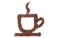 Free Cup Of Coffee From Coffee Beans Royalty Free Stock Photos - 16750078