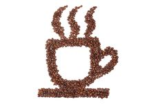 Free Cup Of Coffee From Coffee Beans Stock Photo - 16750160