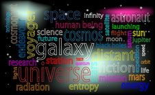 Free Space Tag Cloud Royalty Free Stock Images - 16750309