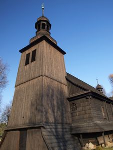 Old Wooden Catholic Church Royalty Free Stock Photos