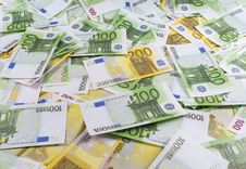 A Lot Of Banknotes Euro