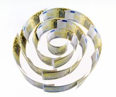 Spiral Of 200 Euro Banknotes Royalty Free Stock Photography
