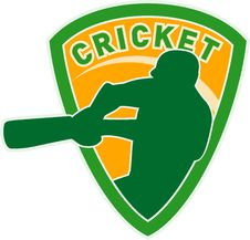 Free Cricket Sports Player Batsman Royalty Free Stock Photo - 16751825