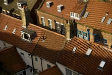 Red Roofs At Whitby Stock Image